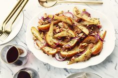 Sauteed Pears with Bacon and Mustard