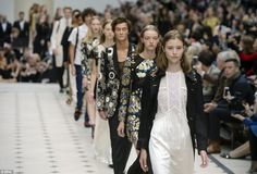 Brand new: Burberry unveiled its most wearable collection yet full of military-inspired outerwear and lovely lace dresses