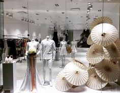 Stunning window display for Luis Antonio Boutique. Designed by Anabelle Barranco STEM Events