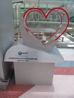 heart-shaped donation box
