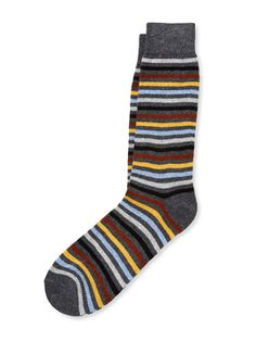 Multi Stripe Cashmere Socks from Cashmere Socks From $15 on Gilt