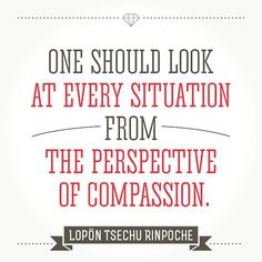 """One should look at every situation from the perspective of #compassion"" ~ Lopön Tsechu Rinpoche"