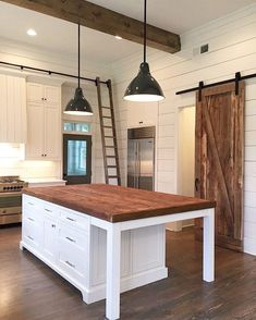 10 Tips on How to Build the Ultimate Farmhouse Kitchen Design Ideas Love the ideas! Check the website for more farmhouse kitchen design. Kitchen Cabinet Design, Kitchen Remodel, Kitchen Tiles Design, Farmhouse Kitchen Island, Farmhouse Style Kitchen, New Kitchen, Simple Kitchen Design, Home Kitchens, Kitchen Renovation