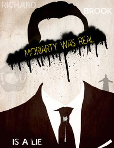"""""""Moriarty Was Real"""" Sherlock BBC fan art poster! My design. Comes on a glossed poster paper that measures 11x14"""""""