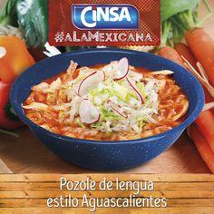 #Cinsa #CinsaALaMexicana #Recetas #Mexicanas #RecetasMexicanas #México #Comida #ComidaMexicana #peltre #MarcasMexicanas #PozoleDeLengua #Aguascalientes