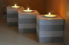 Items similar to Wood Candle Holder, Set of Unfinished Wood, Tealight holder, Rustic candle holde Modern Candle Holders, Wood Candle Holders, Candle Stand, Candle Holder Set, Tea Light Holder, Rustic Candles, Tea Candles, Yankee Candles, Woodworking Candle Holder