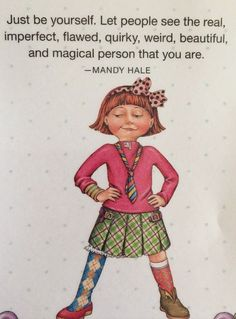 Handmade Fridge Magnet-Mary Engelbreit Artwork-Just Be Yourself #MaryEngelbreit