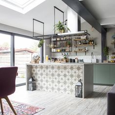 Love Renovate — Renovation tour - a house transformed into a stylish boho family home Boho Kitchen, Kitchen Styling, Stylish Kitchen, Kitchen Units, Open Plan Kitchen, Kitchen Ideas, Apartment Kitchen, Kitchen Interior, Kitchen Design