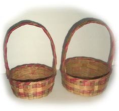 Great VINTAGE EASTER BASKET lot  two nesting by vintagewarehouse, $16.00
