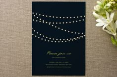 Midnight Vineyard Party Invitations by Design Lotus at minted.com
