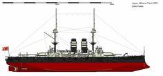 Mikasa Admiral Togo's flagship at Battle of Tsushima