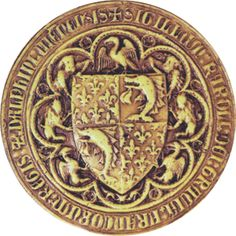 Sceau du Dauphin Charles en 1376 (Archives nationales, Paris)