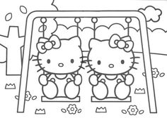 hello_kitty_coloring_pages_006 - Coloring Pages ABC Kids Fun Page