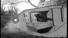 Link to order this clip: http://www.criticalpast.com/video/65675048449_Mark-VIII-tank_tree-smashing-test_World-War-I-tank_climbing-test Historic Stock Footag...