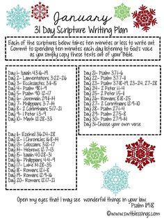 Sweet Blessings: January Scripture Writing Plan