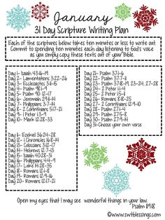 Sweet Blessings: January Scripture Writing Plan