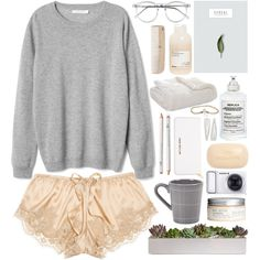 Untitled #64 by loveliness-ccv on Polyvore - Lingerie, Sleepwear & Loungewear - http://amzn.to/2ieOApL