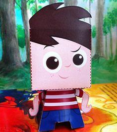 Fazendo a Minha Festa Infantil: Personagens do Sítio do Picapau Amarelo em 3D para Recortar e Montar!