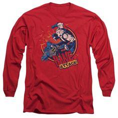 Batman Bane Attack! Red Long-Sleeve T-Shirt