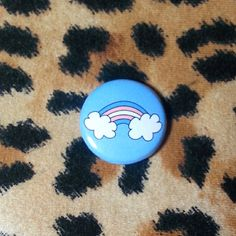 Transgender Flag Rainbow Pinback Button or Magnet by jaxxisbuttons