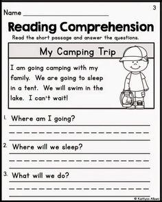 1st Grade Reading Worksheets, First Grade Reading Comprehension, Free Kindergarten Worksheets, Phonics Worksheets, In Kindergarten, Printable Worksheets, Free Worksheets, Reading For Grade 1, Comprehension Strategies