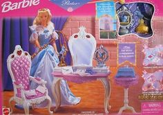 Barbie ROMANTIC PRINCESS PARLOR Playset w THRONE, Magical SCEPTER & MORE! 1998