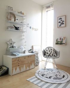 A few months ago I wrote a post about the IKEA hack with a commode for our nursery. You can read it here. Besides the commode we also wanted a little closet/storage bench for toys… Nursery Room, Boy Room, Kids Bedroom, Kids Rooms, Bedroom Ideas, Bedroom Decor, Ikea Kids, Ikea Stuva, Hacks Ikea
