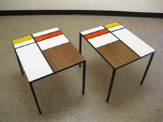Piet Mondrian Furniture With Table