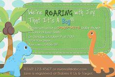 Dinosaur Baby Shower Invitations Boy Dinosaur Dino Baby Shower