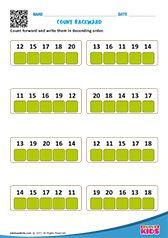 COUNT FORWARD & BACKWARD Kindergarten Math Worksheets, Maths, Clock Games For Kids, Counting Backwards, Kids Learning, Numbers, Writing, Education, April 3