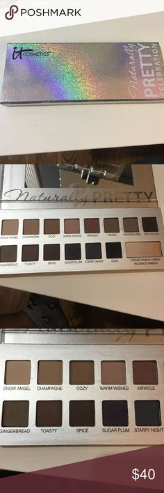 it cosmetics naturally pretty celebration palette beautiful all matte palette by it cosmetics - only used a couple colors so in really great condition - doesn't come with box - purchased at ulta - was limited edition MAC Cosmetics Makeup Eyeshadow