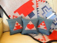Pendleton Navajo pillows, blankets, scarves