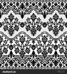 Seamless Lace Pattern, Flower Vintage Vector Background. - 397153684 : Shutterstock
