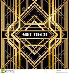 GOLD DECO HEADERS Clip Art: Art Deco Clipart, Instant Download ...