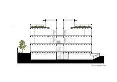 Pompidou Centre Plan, 1971-1977 Paris, Richard Rogers and