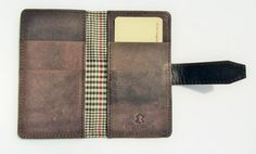 Handmade Real Leather Smart Phone Wallet by ebbandflowleather