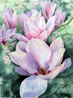 www.etsy.com/shop/DeniseRizzoStudio.  This is a high quality giclee print on Hahnemuhle German Etching paper of spring magnolias at sunset.