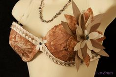Authentic Tapa Cloth Bra. Perfect For Tahitian by TiareOPatitifa