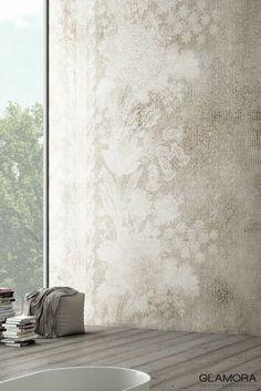 Trace | Wallcovering & Carta da Parati | Fresh Inspiration 2017 by Glamora Cement Walls, Plaster Walls, Glass Design, Wall Design, Velvet Room, Distressed Walls, Furniture Painting Techniques, Garage Interior, Tadelakt