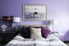 Like the idea of having a mirror that reflects the top of the ceiling and the decoration there. Plus, PURPLE! :-)