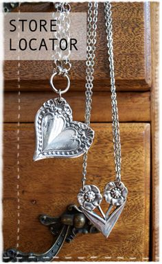 jewelry from silver spoon. most silverware jewelry I don't like, but love this!