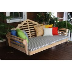 This pillow is just the right size for your new outdoor garden bench, swing, or swing bed. Made of high quality Sundown fabric in 18 pattern options, this is sure to last.