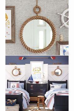 rope mirror - nautical decor inspiration - bedrooms