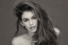 Herb Ritts's protégé Brian Bowen Smith captures Kaia Gerber in the style of her mother's early modeling work.