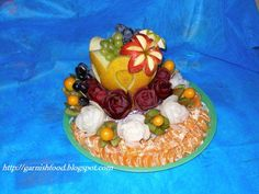 baby shower fruit ideas | Fruit Carving Arrangements and Food Garnishes: Melon Vase & Fruit Tray