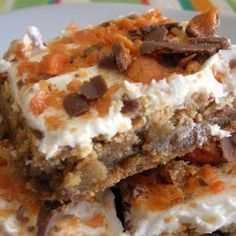 Butterfinger Brownie Recipe | Key Ingredient  Russ would really like these - maybe his birthday treat?