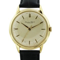 Vintage 18k Yellow Gold IWC Schaffhausen Mens Watch