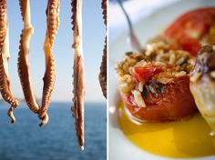 Pelion - GREECE  squids and stuffed tomatoes, who needs more than that?