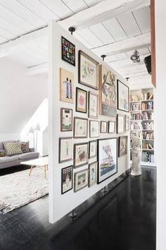 Room Divider - great space on both sides for displaying art work or photos