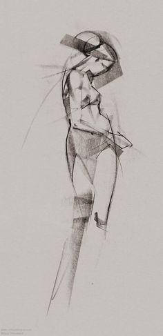 Conté Figure Drawings by Ryan Woodward. ryanwoodwardart.com
